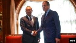 Ռուսաստանի և Թուրքիայի ԱԳ նախարարներ Սերգեյ Լավրովի և Մևլութ Չավուշողլիի հանդիպումը Սոչիում, 1-ը հուլիսի, 2016թ․
