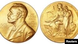 Пушту рӯи медали ҷоизаи Нобел