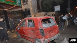 Three people were killed in this suicide bomb in Peshawar on November 11.