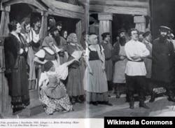 Сцена из спектакля Стокгольмской королевской оперы. 1935 год