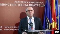 Архивска фотогарфија, прес конференција на директорот на Бирото за јавна безбедност Митко Чавков на 15 јули 2016