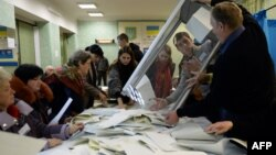 Подсчет голосов, поданных на выборах в Верховную Раду