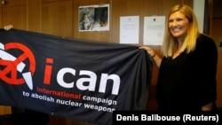 Беатрис Фин, Ядролық қаруды жою жөніндеегі халықаралық кампанияның атқарушы директоры.