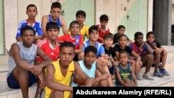 """فريق """"حي الحسين"""" بكرة القدم في البصرة"""