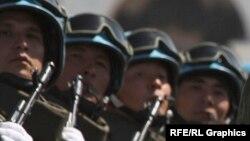 Казахстанские военнослужащие.