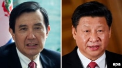 Президент Тайваню Ма Інцзю (л) і голова КНР Сі Цзіньпін
