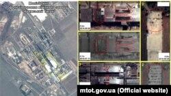 Знімки заводу «Кримський титан» із космосу