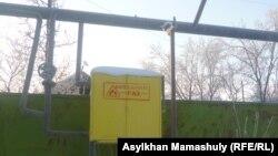 Газ құбыры. Алматы облысы, Қарасай ауданы, 31 қаңтар 2012 жыл.