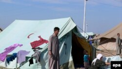 A camp for displaced people in Mosul