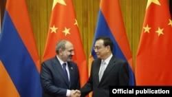 Հայաստանի և Չինաստանի վարչապետների հանդիպումը Պեկինում, 15-ը մայիսի, 2019թ.