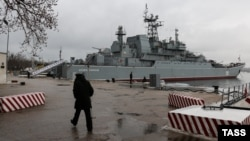 "Qara deñiz flotunıñ ""Tsezar Kunikov"" desant gemisi"