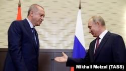 Президент Турции Реджеп Тайип Эрдоган и президент России Владимир Путин (архивное фото)