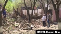 د تاجکستان او قرغزستان ترمنځ جګړه کې یوه ویجاړه شوې سیمه