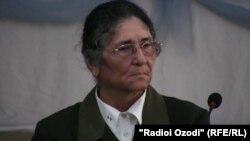 Tajik presidential candidate Oinihol Bobonazarova