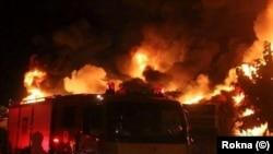 Fire in a flower market southeast of Tehran. June 13, 2020