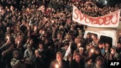 """Чехословакия, осень 1989 года, """"бархатная революция"""""""