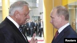 Міхаіл Мясьніковіч і Ўладзімер Пуцін