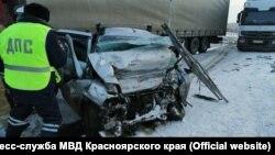 На месте ДТП под Красноярском, где погибли пять человек