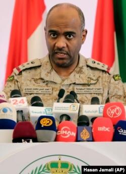 احمد عسیری، سخنگوی وقت ائتلاف عربی به رهبری عربستان سعودی