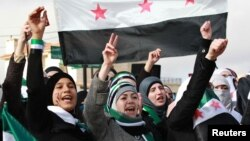 Митинг противников режима Башара Асада в Иордании