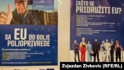 Plakat na konferenciji za novinare povodom projekta Awareness II