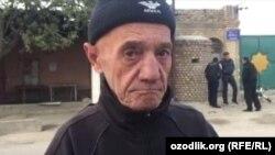 Правозащитник Бобомурод Раззаков после освобождения из тюрьмы, 25 октября 2016 года.