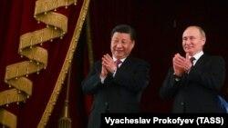Президент Китая Си Цзиньпин и президент России Владимир Путин. Москва, июнь 2019 года.
