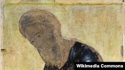 """Фрагмент иконы Андрея Рублева """"Андрей Первозванный"""""""