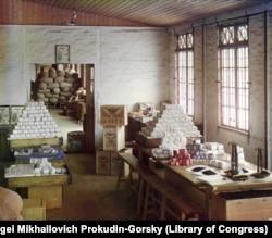 A tsarist-era, tea-packing station in Chakvi.