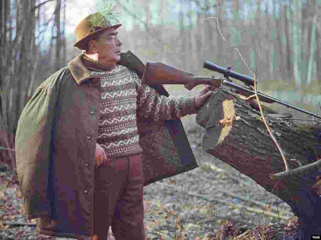 Russia - Soviet leader Leonid Brezhnev during hunting, Zalesye, Ukraine, 01Nov1973 - Rob2007