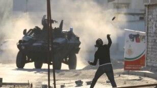 Anti-government protest near the Bahraini capital, Manama, in May.