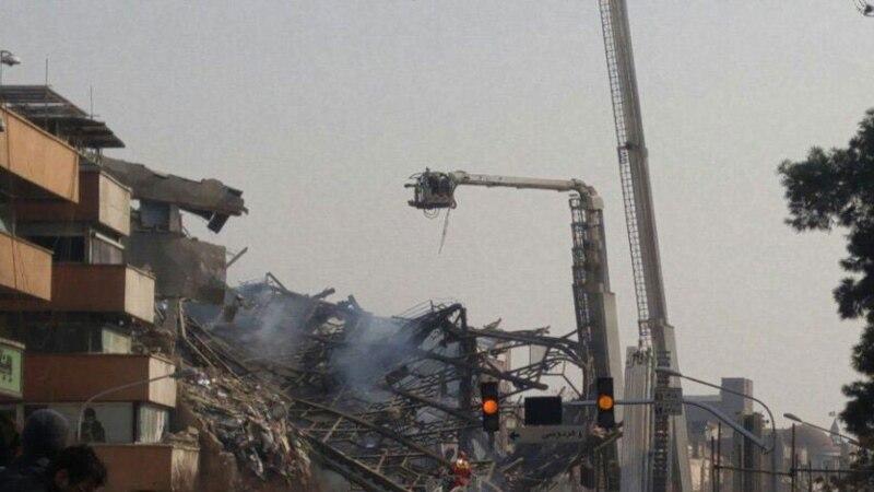 Се урна зграда во Техеран