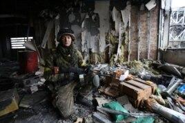22-летний студент Сергей Галян, защитник Донецкого аэропорта. Фото Сергея Лойко