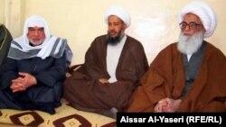 الشيخ بشير النجفي يستقبل وفد الوقف السني