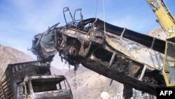File photo of a bus crash in Afghanistan.
