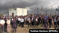 Bakıda neftçilərin aksiyası, 26 sentyabr, 2012-ci il