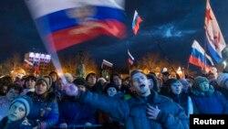 Святкування першої річниці анексії Криму, Севастополь, 18 березня 2015 року