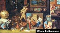 Франс Франкен Малодшы, «Кабінэт калекцыянэра» (1625).