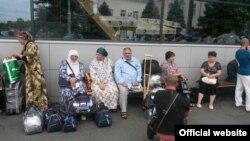 паломники в аэропорте «Симферополь»