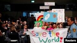Церемония открытия конференции ООН по климату в Бонне, 6 ноября 2017 года.