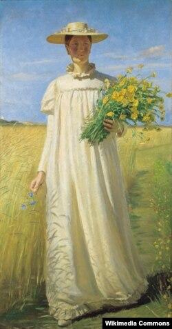 Мікаэль Анкер, «Анна Анкер вяртаецца з поля» (1902)