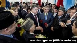Петр Порошенко Анкарада кырымтатар һәм украиннар белән очраша, март 2016