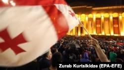 Վրաստան - Երեկվա հանրահավաքը Թբիլիսիում