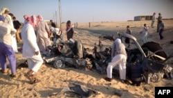 انفجار سيارة في العريش (الارشيف)