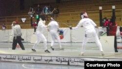 جانب من منافسات بطولة غرب آسيا بالمبارزة في عمّان