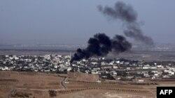آتش در نزدیکترین شهر سوریه به بلندیهای جولان