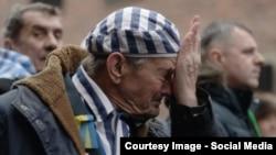 Ігор Малицький під час урочистостей із нагоди 70-річчя визволення концтабору «Аушвіц»