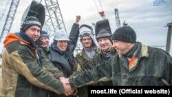 Строители Керченского моста и Олег Газманов, 29 ноября 2017 года