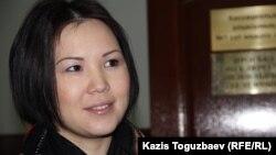 Алия Турусбекова, жена находящегося в заключении оппозиционного политика Владимира Козлова. Алматы, 11 февраля 2015 года.