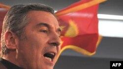 Мило Джуканович после оглашения результатов выборов